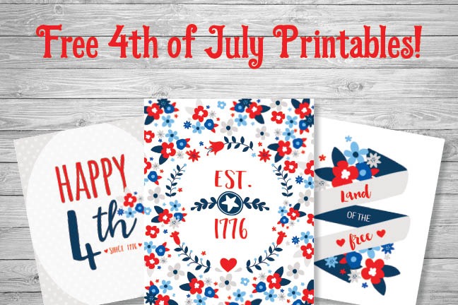 Free 4th of July Printables!