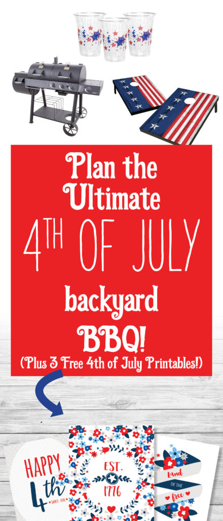 Plan the ultimate 4th of July backyard BBQ and get 3 free 4th of July printables!