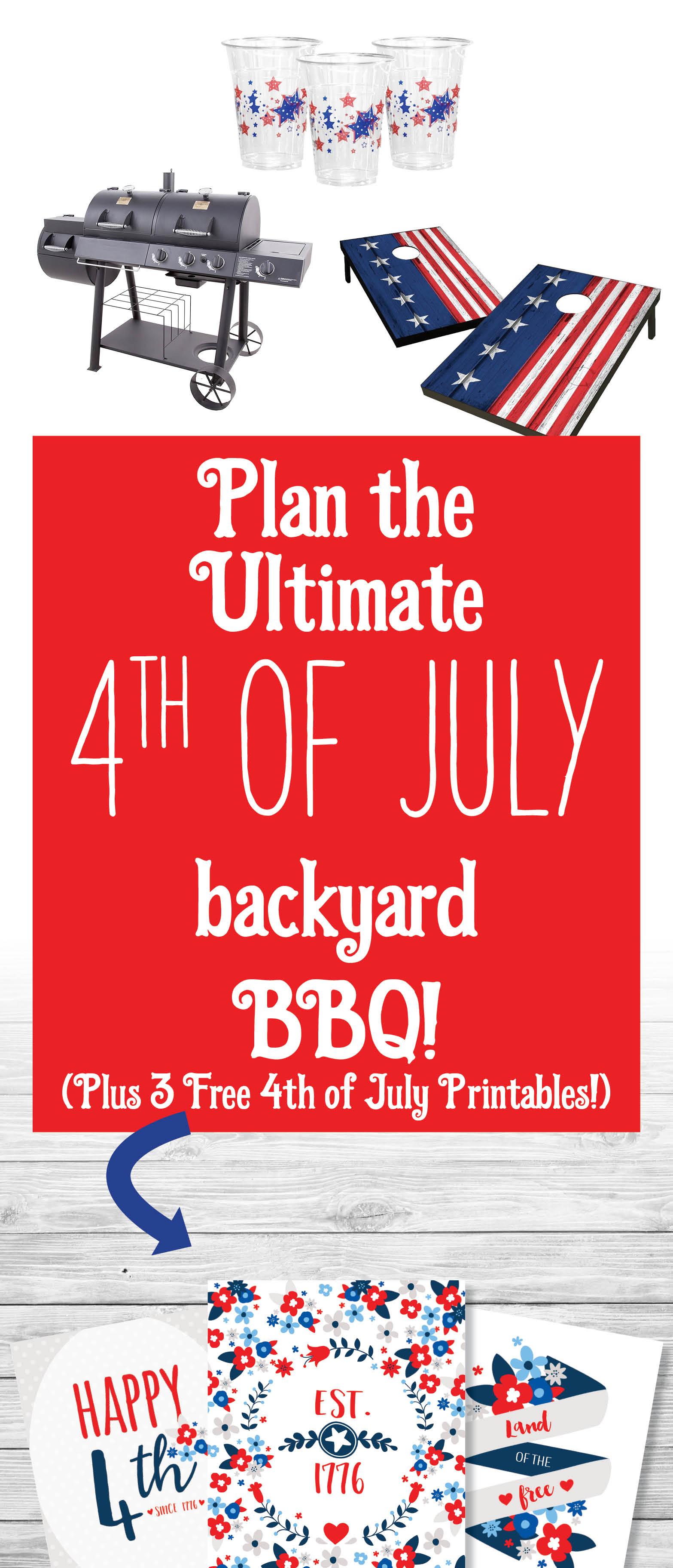 Throw the Ultimate 4th of July Backyard BBQ - Plus Free Printables!