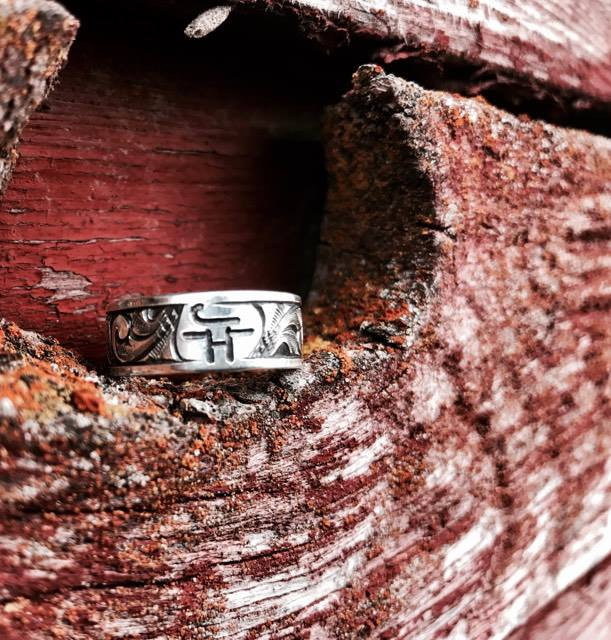 Custom Western Wedding Band