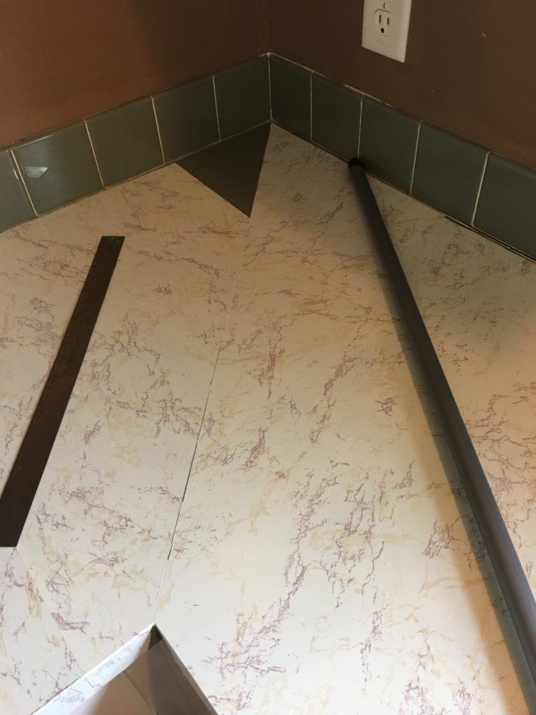 contact paper over ugly countertops