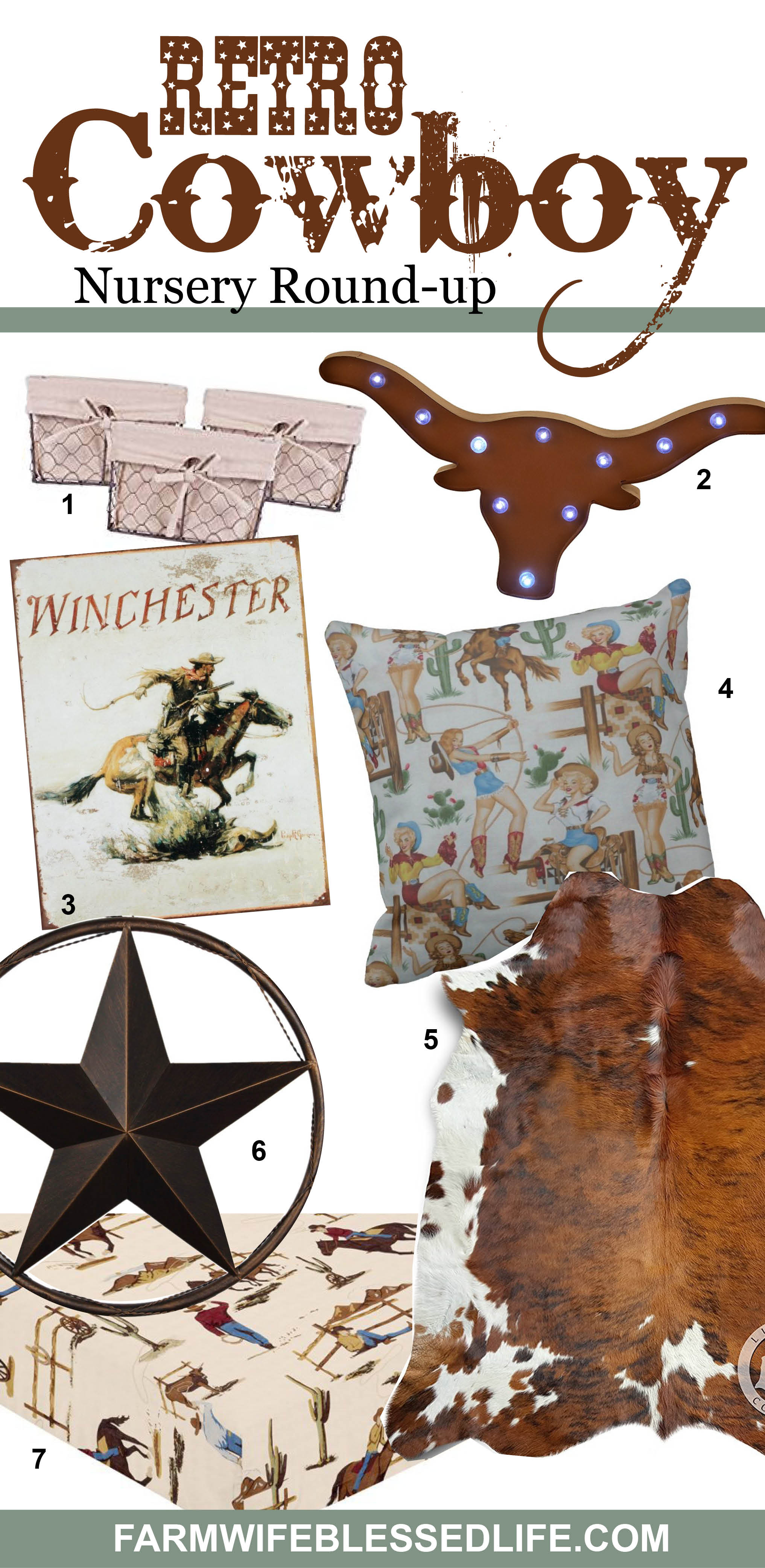 Retro Cowboy Nursery Round Up | Adorable retro cowboy nursery ideas for your buckaroo!