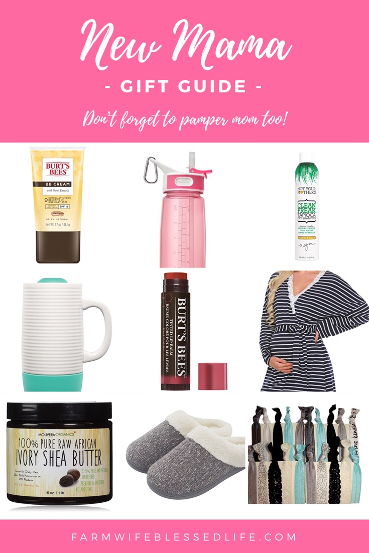 New Mom Gift Guide - don't forget to pamper mama too!
