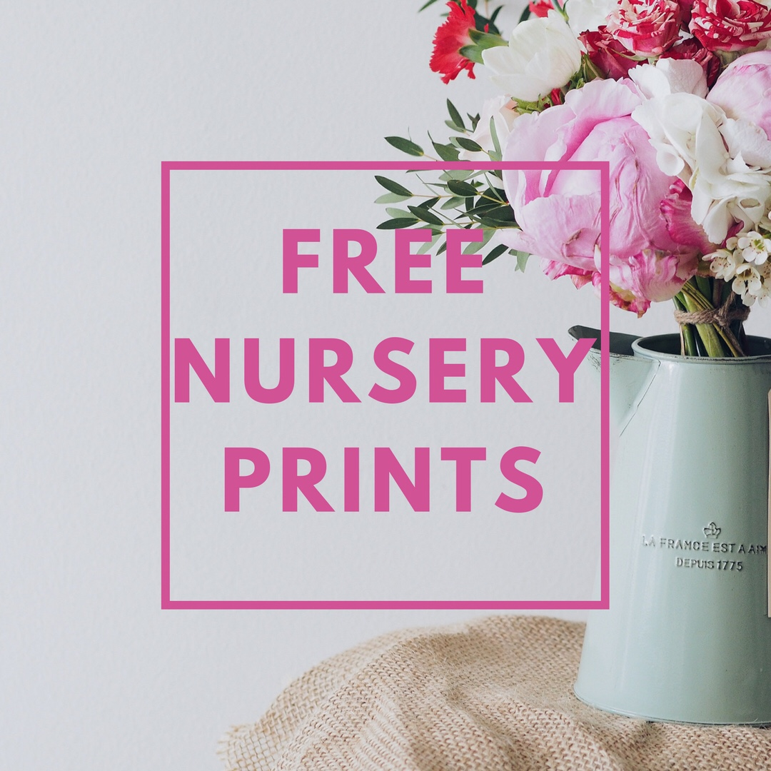 Free Nursery Printables – Spring