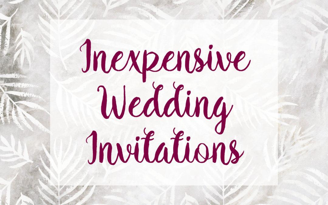 Inexpensive Wedding Invitations